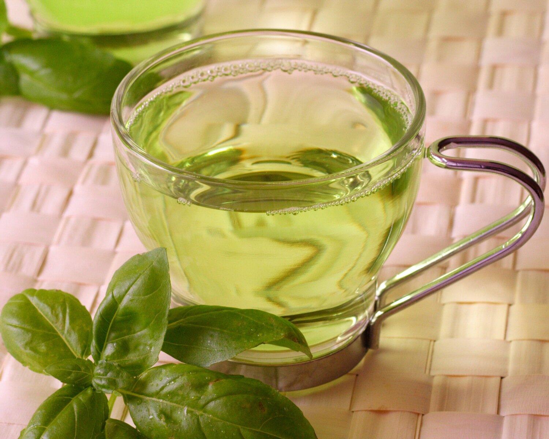 На фото: зеленый чай