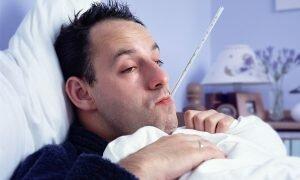 На фото: температура - осложнение после операции