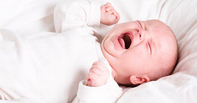 На фото: цистит у грудного ребенка