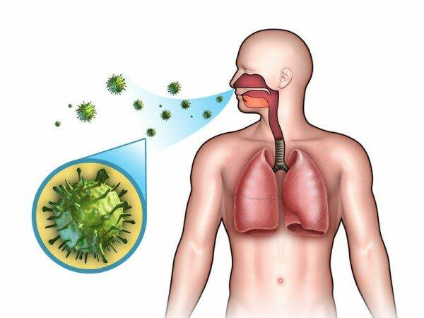 На фото: инфекция дыхательных путей