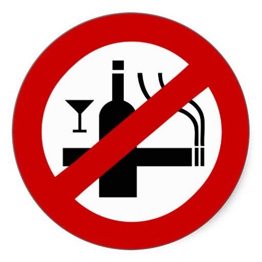 На фото: отказ от вредных привычек