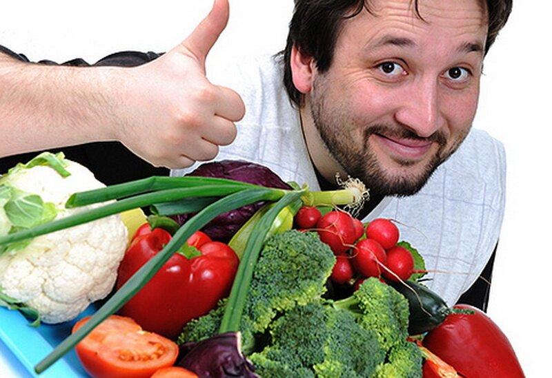 На фото: здоровая пища для мужской потенции