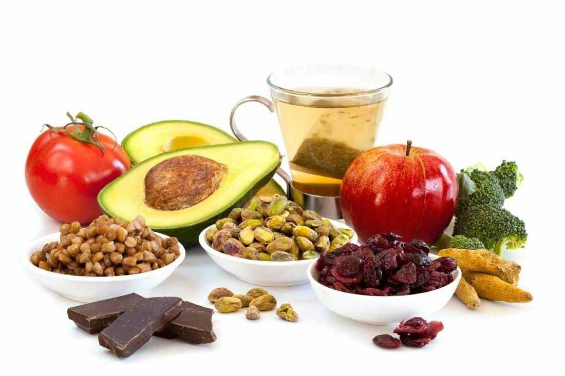 На фото: продукты для повышения потенции