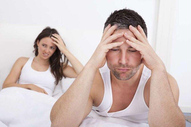 На фото: снижение полового влечения у мужчин